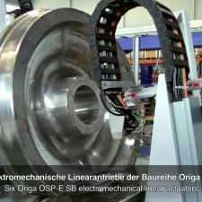 Quality Assurance for Railway Wheels with ORIGA OSP-E Electromechanical Linear Actuators